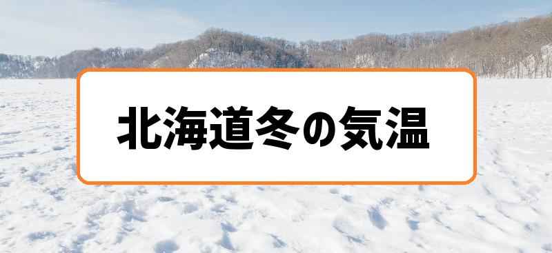 北海道冬の気温