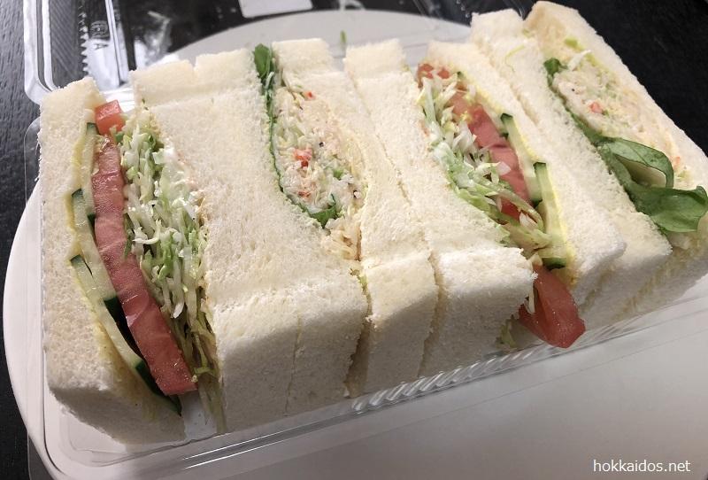さえらたらばがにやさいサンドイッチ