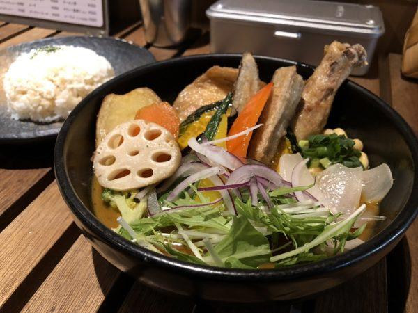 スープカレー侍20品目の野菜