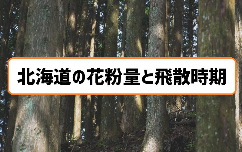 北海道の花粉量と飛散時期