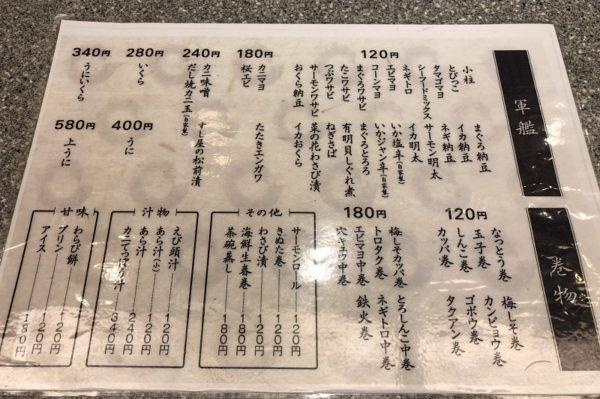 回転寿司くるくる寿司メニュー2