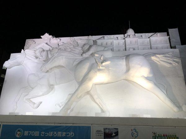 札幌雪まつりサラブレッド雪像