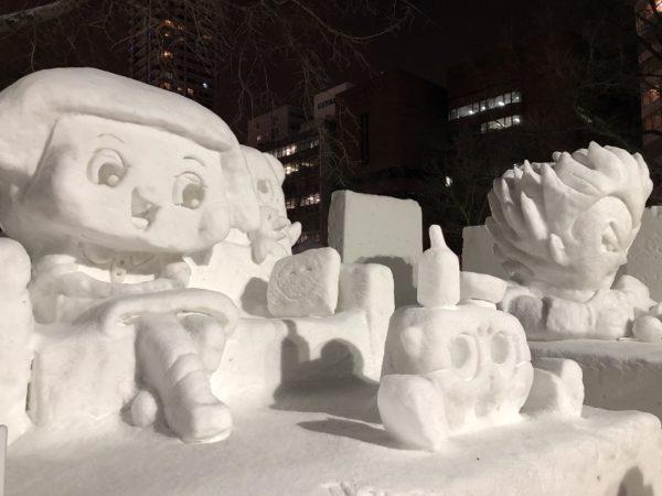 札幌雪まつり市民雪像チコたん