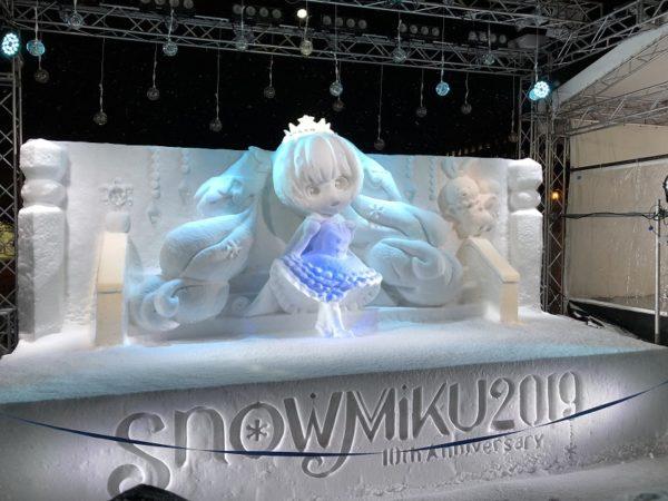 札幌雪まつり雪ミク雪像