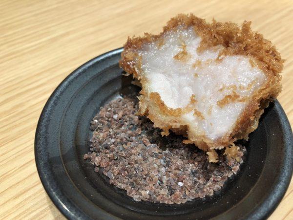 とんかつ檍岩塩と肉