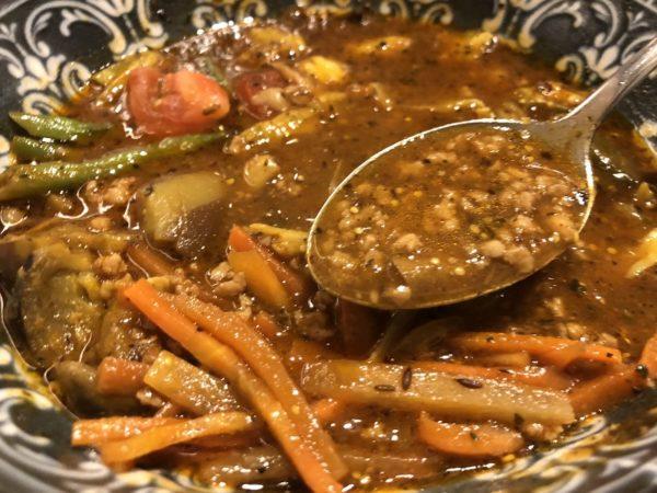 らっきょスパイスキーマのスープカレー