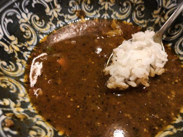 スープカレーライス浸す食べ方