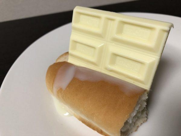 ホワイト板チョコパン練乳