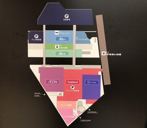 新札幌地下地図