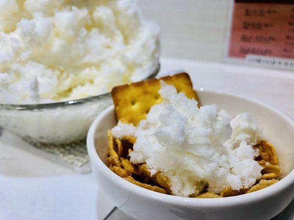えぞうさぎクリームチーズかき氷トッピング