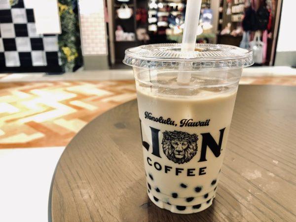 ライオンコーヒータピオカカフェラテ