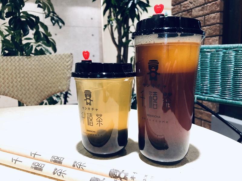 千禧茶(センキチャ)MサイズとLサイズ