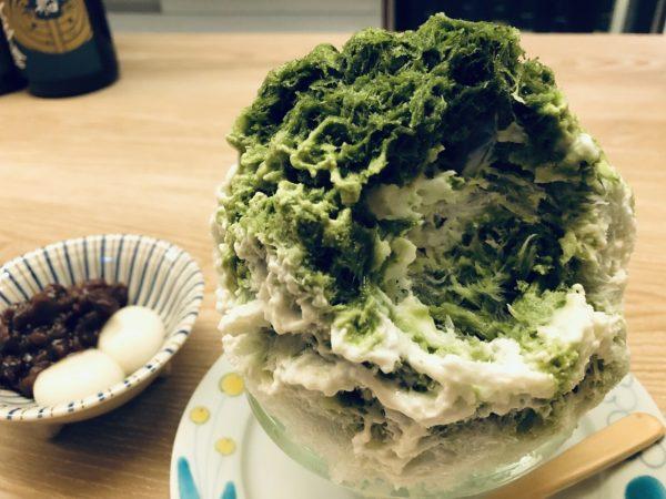 氷処さゆり・かき氷抹茶レアチーズ白玉あずき