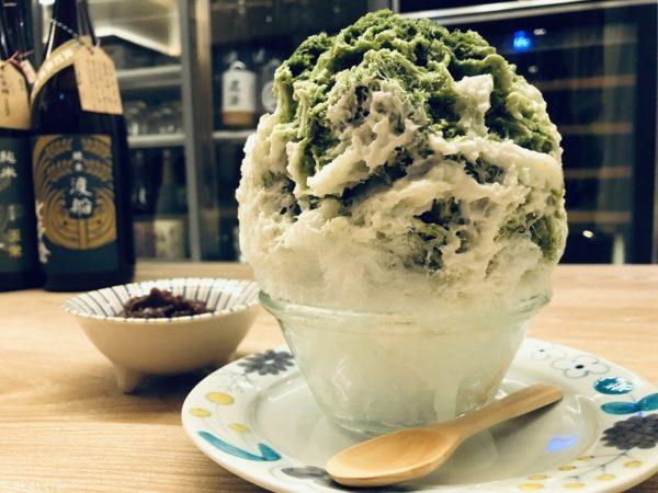 氷処さゆり・かき氷抹茶レアチーズ白玉