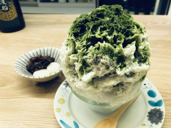 氷処さゆり・かき氷抹茶レアチーズ