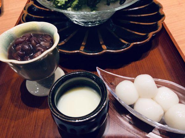 清水一芳園札幌かき氷小豆・練乳・白玉