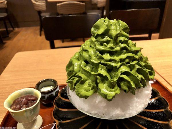 清水一芳園札幌宇治抹茶かき氷