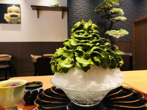 清水一芳園札幌宇治抹茶エスプーマかき氷