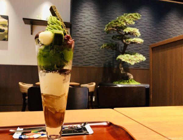 清水一芳園札幌抹茶パフェ