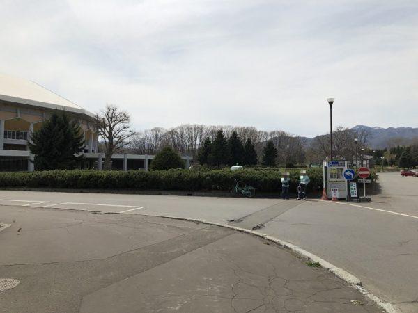 真駒内セキスイハイムアイスアリーナ駐車場