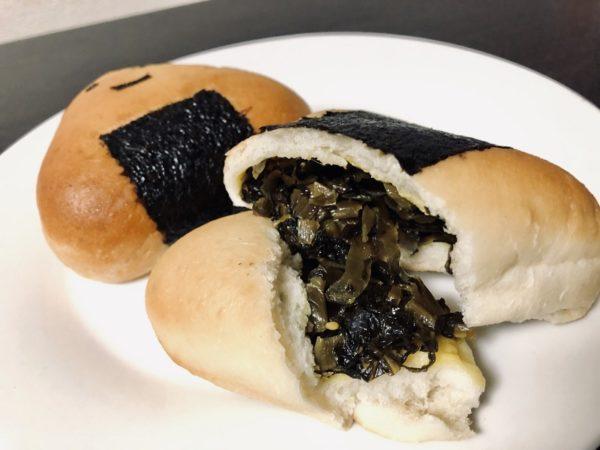 コメデパンおにぎりパン高菜