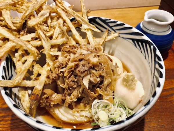 増田うどんぶっかけ肉うどん出汁