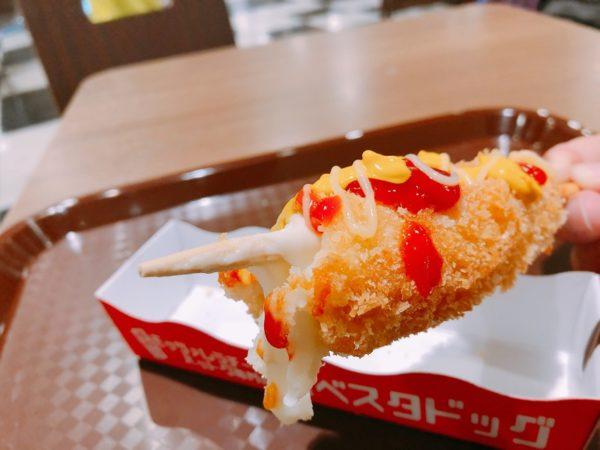食べスタドッグチーズハットグ中