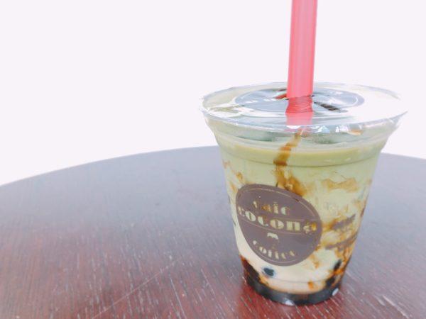 タピオカカフェココナ札幌黒糖抹茶ラテ