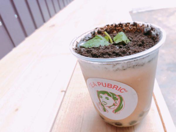 ティーパブリック札幌麻生タピオカ盆栽ミルクティー