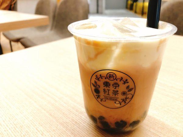 N3カフェ札幌タピオカチーズミルクティー