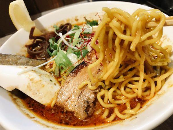 スパイスカレー点と線麺